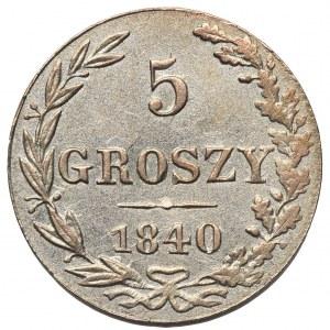 5 groszy 1840 MW, Warszawa