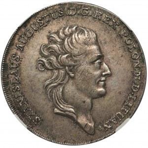 Poniatowski, Talar 1783 E.B. - NGC AU53 - PIĘKNY