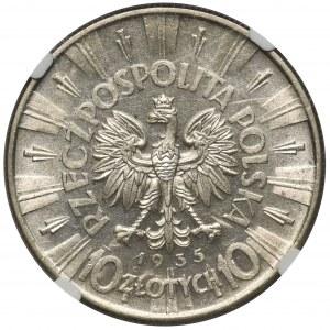Piłsudski 10 złotych 1935 - NGC MS61