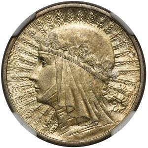 Głowa Kobiety 2 złote 1933 - NGC MS61
