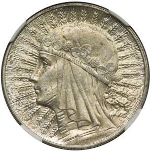 Głowa Kobiety 5 złotych 1932 Londyn - NGC MS61