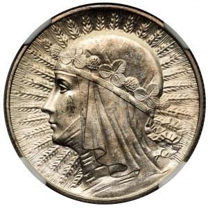 Głowa Kobiety 5 złotych 1933 - NGC MS62 - świeża
