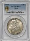 Piłsudski 10 złotych 1934 - PCGS MS62 - rzadki