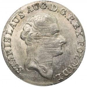 Poniatowski, Złotówka 1794 M.V. - 83 1/2 - PCGS MS62 - przebita data