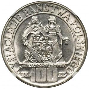 100 złotych 1966 Mieszko i Dąbrówka - NGC MS64