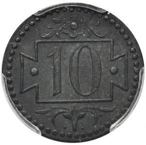 Gdańsk 10 fenigów 1920 - 56 perełek - PCGS MS62