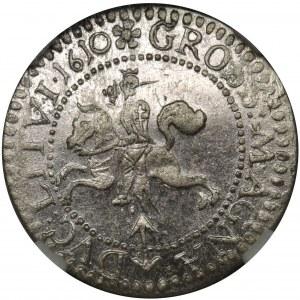 Zygmunt III Waza, Grosz Wilno 1610 - NGC MS61
