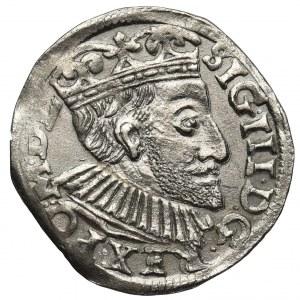 Zygmunt III Waza, Trojak Poznań 1591 - szeroka twarz