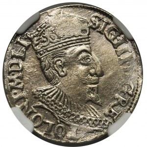 Zygmunt III Waza, Trojak Olkusz 1595 - NGC MS61
