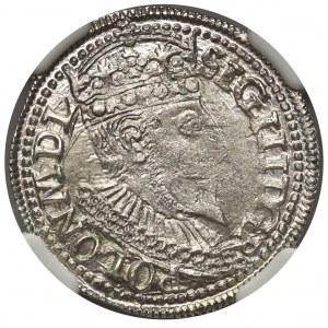 Zygmunt III Waza, Trojak Olkusz 1596 - NGC MS62