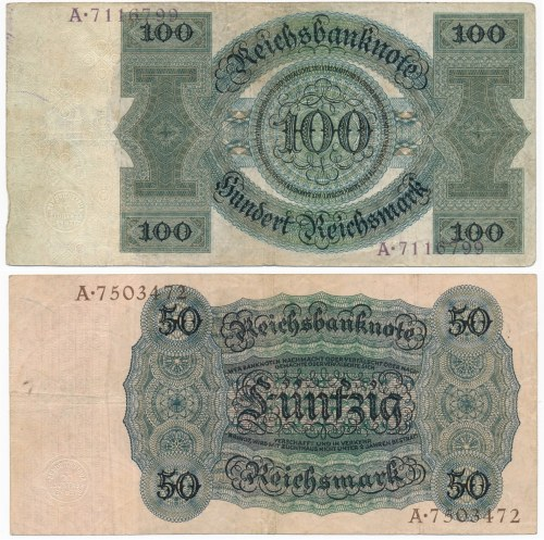 Niemcy - 50 i 100 marek 1924 (2szt.)