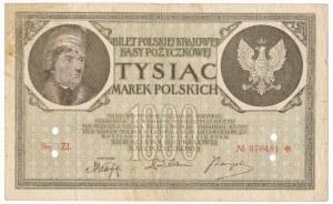 1.000 marek 1919 -Ser ZI- FAŁSZERSTWO - bardzo dobre
