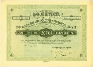 Spółka Akcyjna Górnictwa i Przemysłu Naftowego, Em.5, 200 koron 1923
