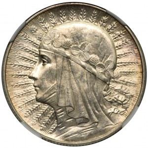 Głowa Kobiety 5 złotych 1933 - NGC MS63
