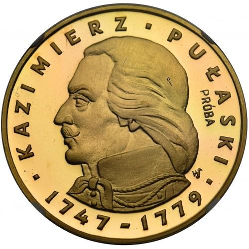Kazimierz Pułaski - 500 złotych 1976 PRÓBA - NGC MS68 ULRA CAMEO