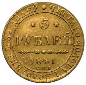 Rosja, Mikołaj I, 5 rubli 1841, Petersburg