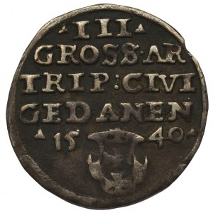 Zygmunt I Stary, Trojak Gdańsk 1540