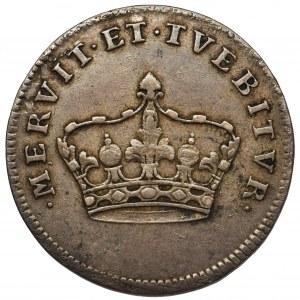 August III Sas, Żeton koronacyjny 1734