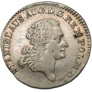 Poniatowski, Złotówka 1767 FS - data wąsko rozstawiona
