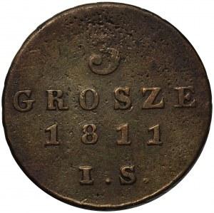 Księstwo Warszawskie, 3 grosze 1811 I.S.
