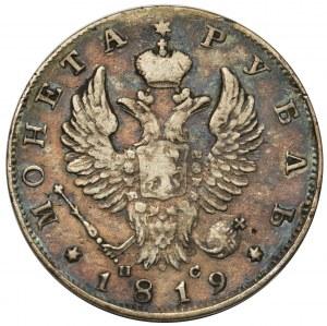 Rosja, Aleksander I, Rubel 1819 СПБ ПС, Petersburg
