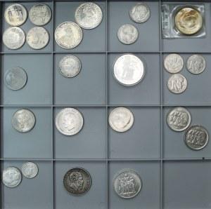 Zestaw monet - Francja, Belgia, Holandia, Włochy, Grecja i Szwajcaria (24 szt.)
