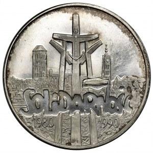 100.000 złotych 1990 Solidarność - drobny DESTRUKT - TYP A