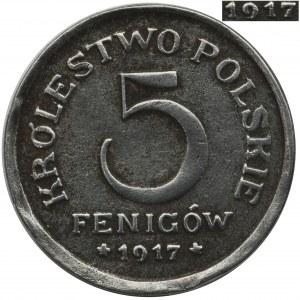 Królestwo Polskie, 5 fenigów 1917 - otwarta 9