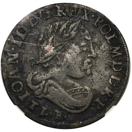Jan III Sobieski, Szóstak 1687 - Fałszerstwo z epoki - NGC VF - bardzo rzadki