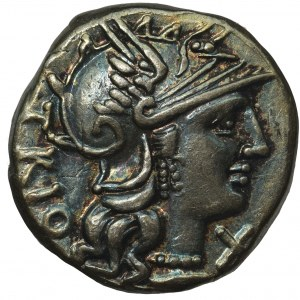 Republika Rzymska, Cn. Lucretius Trio (136 pne), Denar