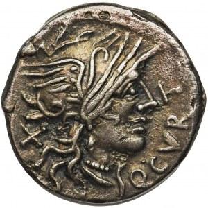 Republika Rzymska, Q. Curtius & M. Silanus (116-115 pne), Denar