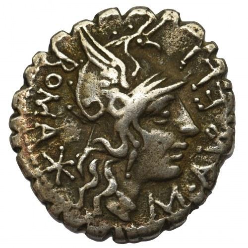 Republika Rzymska, M. Aurelius M.f. Scaurus (118 pne), Denar - rzadki