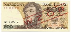 500 złotych 1982 WZÓR CD 0000000 No.0297