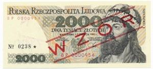 2.000 złotych 1982 WZÓR BP 000954 No. 0238