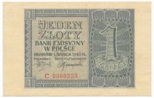 1 złoty 1940 -C-