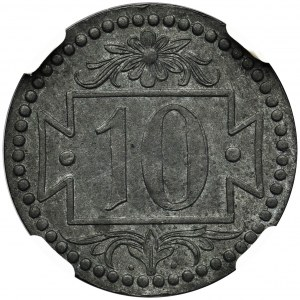 Gdańsk 10 fenigów 1920 - 55 perełek - NGC MS63