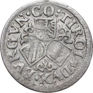 Austria, arcyksiążę Ferdynand II 1564-1595, 3 krajcary bez daty, Hall