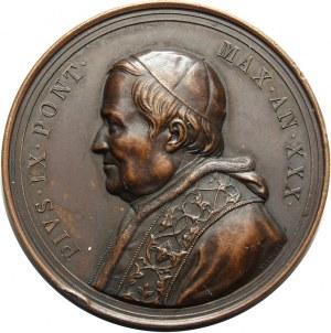 Watykan, Pius IX 1846-1878, medal z 1876 r.