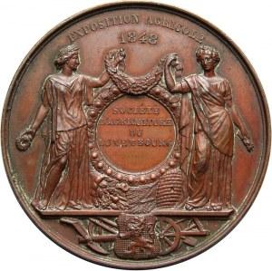Belgia, Leopold I, medal z wystawy rolniczej w 1848 r.
