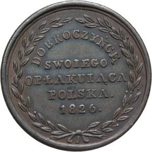 Królestwo Polskie, Mikołaj I, medal wybity z okazji śmierci Aleksandra I