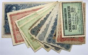 Zestaw 10 banknotów Darlehnskasse Ost, Posen