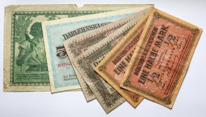 Zestaw 6 banknotów Darlehnskasse Ost, Kowno