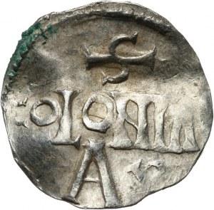 Niemcy, Dolna Lotaryngia - Kolonia, arcybiskupstwo, cesarz Henryk II 1002-1024, denar 1002-1024