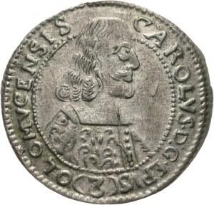 Austria, Ołomuniec biskupstwo, Karol II z Liechtenstein 1664-1695, 3 krajcary 1665