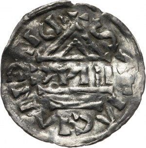 Niemcy, Bawaria - Ratyzbona - ks. Henryk IV 995-1002, denar 995-1002
