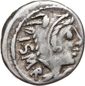 Republika Rzymska, L. Thorius Balbus 105 pne, denar 105 pne, Rzym,