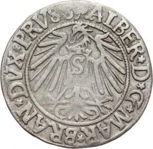 Prusy Książęce, Albrecht Hohenzollern 1525-1568, grosz pruski 1542, Królewiec