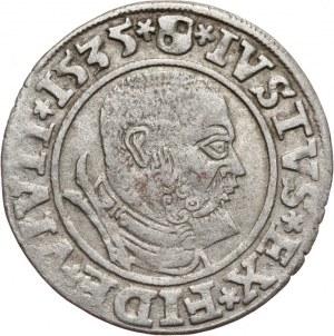 Prusy Książęce, Albrecht Hohenzollern 1525-1568, grosz pruski 1535, Królewiec