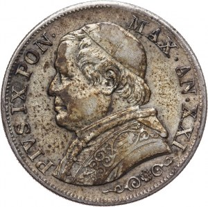 Watykan, Pius IX, 1 Lira 1867
