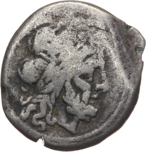 Republika Rzymska, anonim po 211 pne, denar 211-208 pne, w Hiszpanii